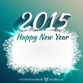 Snowflake Banner 2015 New Year Card