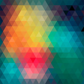 Colorful Tone Triangle Mosaic Background