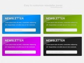 4 Colorful Subscribe Newsletter Boxes Set PSD