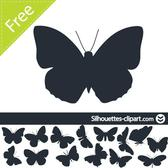 BUTTERFLIES SILHOUETTES VECTOR.eps