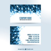 Business cards triangle design
