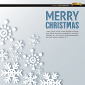 Merry Christmas snowflake shapes background