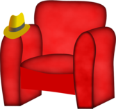 hat on a chair