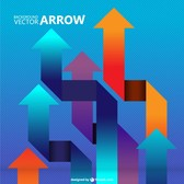 Vector arrows background template
