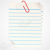 Free vector Paper Note with clip