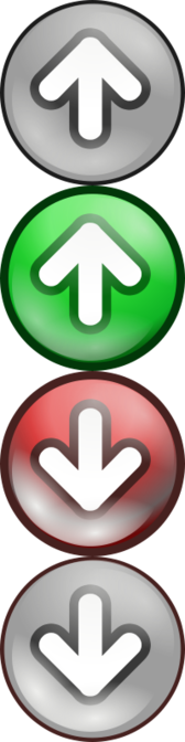 Shiny green/red voting arrows