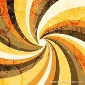 Vintage Grunge Sunburst Background