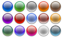 Web Page Design Elements Vector Graphic - Round Crystal Bal