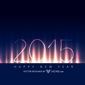 2015 New Year Background on Lightening Curtain