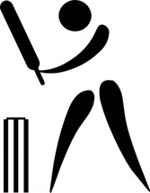 Olympic Sports Cricket Pictogram