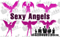 6 Silhouettes Angel