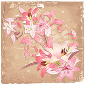 Spring flowers background in the vector file