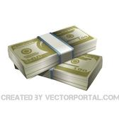 MONEY STACKS VECTOR CLIP ART.eps
