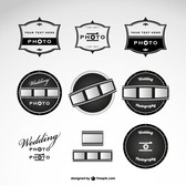 Wedding photography logos template
