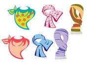 Colorful Neck Scarf Vectors