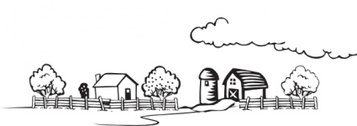 Coloring Book Farm Landscape
