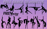 Women Pole Dancer Silhouette