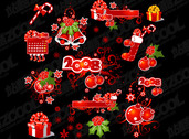 2008 Christmas Decoration Elements And Patterns