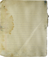 torn and worn paper notebook PSD