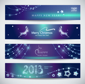New year banners vector free download-5