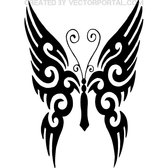 BUTTERFLY TATTOO FREE VECTOR.eps