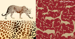 Leopard And Animals Vector Background Material