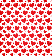 Transparent Heart Seamless Vector Pattern