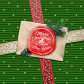 Christmas Background with Red Seal Envelope