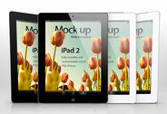 iPad 2 Psd Vector Mockup sjabloon