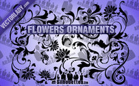 8 Flowers Ornaments