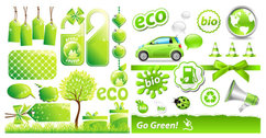 Low-carbon Green Theme Icon Vector Material Low-carbon