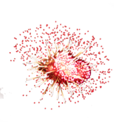 Red Fireworks PSD