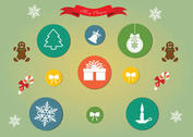 Free Vector Christmas Icon Set