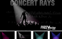 Free Vector Concert Rays