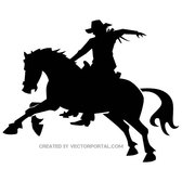COWBOY RODEO VECTOR SILHOUETTE.eps