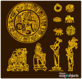 Free Vector Aztec/Mayan Elements
