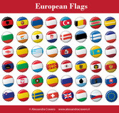 Free European Flags
