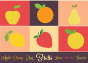 Free Vector Fruits IconSet