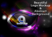 Background Vector with Beautiful Logo Mockup