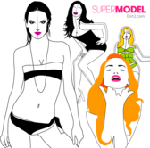 Fashion Models Vector Pack Free