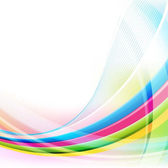 Colorful Curved Lines Abstract Background