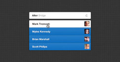 Autocomplete dropdown search PSD