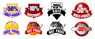 sale discount decorative icon