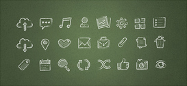 Free PSD Hand Drawn Icons