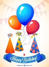 Birthday vector template