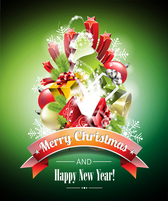2014 Christmas and happy new year poster