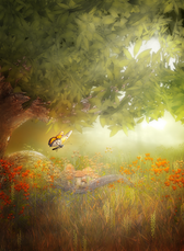 Woodland Background 3 PSD