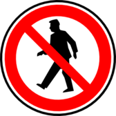no walking pedestrians