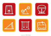 Square Icons Playground Vector Pack