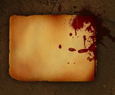 Old Grungy Paper with Red Splatter PSD